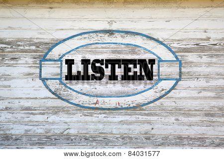 Listen road sign