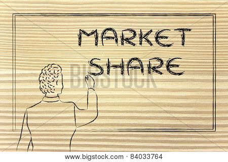 Teacher Or Ceo Explaining About Market Share