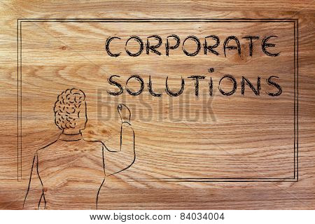 Teacher Or Ceo Explaining About Corporate Solutions