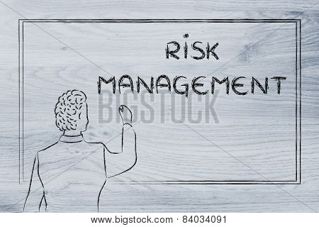 Teacher Or Ceo Explaining About Risk Management