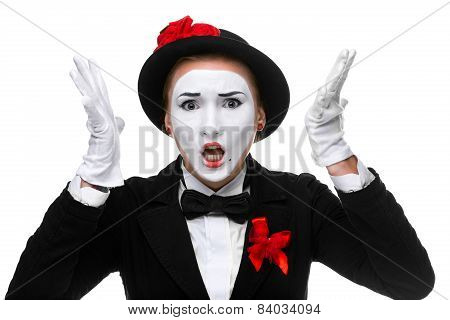 Portrait Of The Angry And Resent Mime