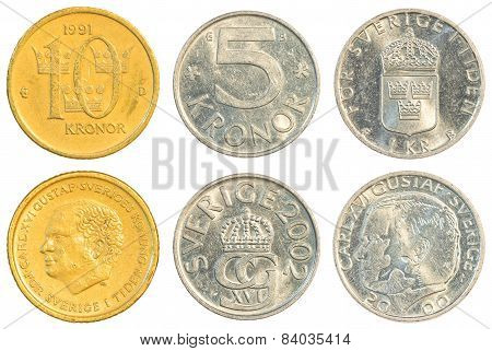 Swedish Krona Coins Collection Set