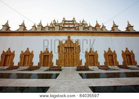 White Temple In Mandalay, Myanmar (burma)