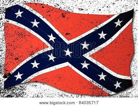 Waving Confederate Flag