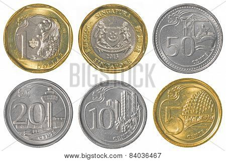 Singaporean Dollar Coins Collection