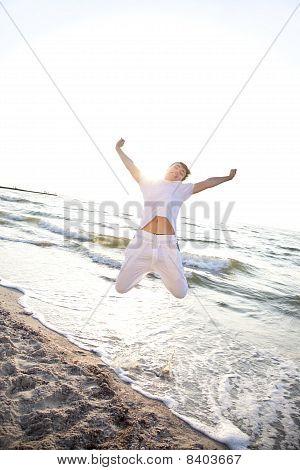 Young Men Jumping