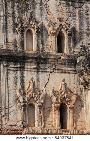 Burmese Pagoda  In Inwa, Myanmar