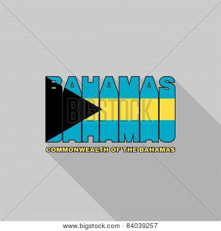 The Bahamas Flag Typography, T-shirt Graphics