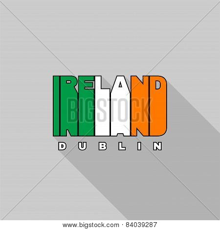 Ireland Flag Typography, T-shirt Graphics