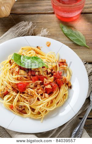 Tasty Pasta On A Plate