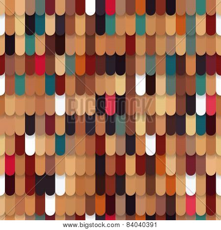Roof Tile Colorful Seamless Pattern