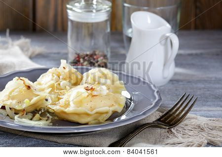 Polish Pierogi With Potatoes And Onion