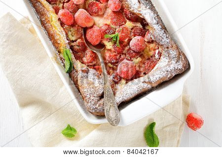 French Clafoutis With Strawberries