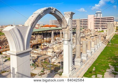 Izmir, Turkey, Ruins Of Ancient Smyrna