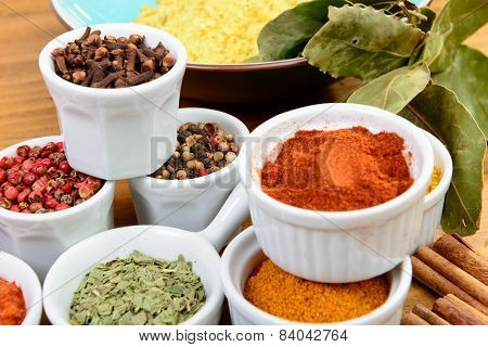 Several Indian Spices