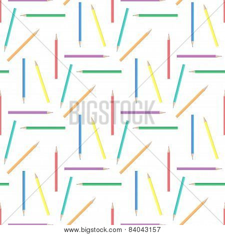 Abstract rainbow pensils seamless background