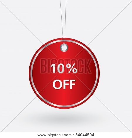 red oval discount 10 percent off