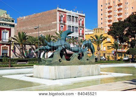 Dolphin statue, Almeria.