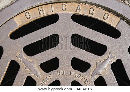 Chicago Fish Manhole Cover