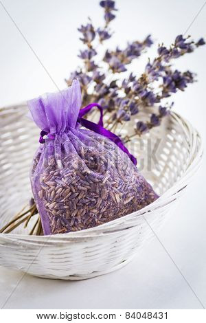 Dried Lavender with Sachet