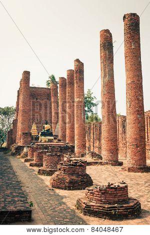 Ayutthaya Historical Park, Ayutthaya, Thailand.