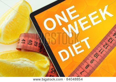 one week diet on tablet.