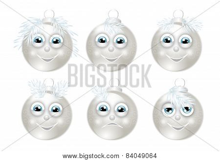 Set Of Christmas Bulbs