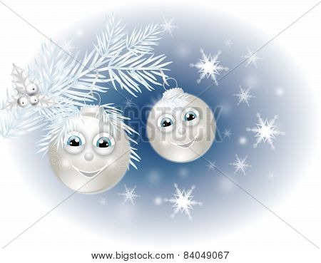 Smiling Christmas Bulb Background