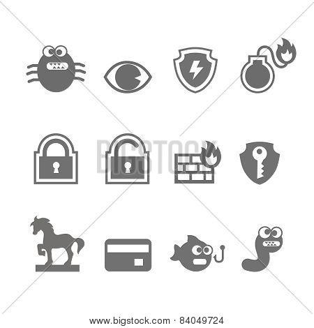 Computer criminal icons