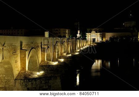 View Of Guadalquivir River And Romano Bridge, Cordoba,spain