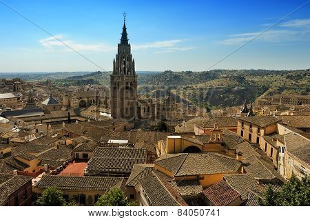 Old Part Of Toledo And Cathedral, Spain