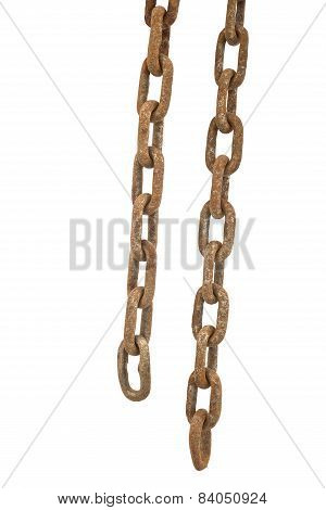 Rusty Chain Isolated
