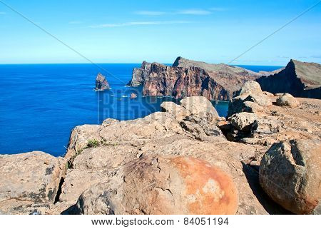 The  View Of The East Coast Of Madeira Island