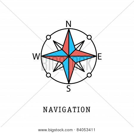 navigation and geo location thin flat lines