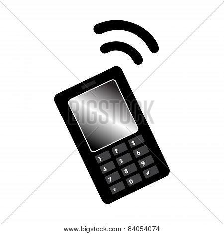 Button Call Black