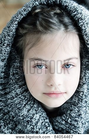 Girl In Hooded Sweater