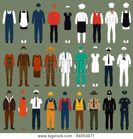 vector icon workers, profession