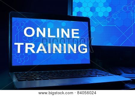 Computer with words online training.