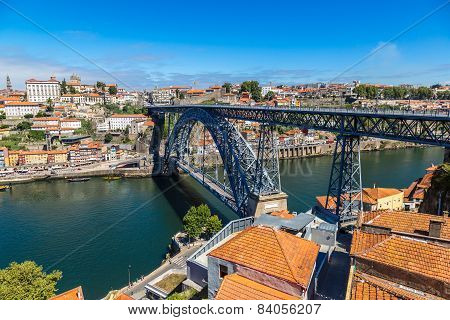 Dom Luis I Bridge In Porto