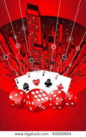 Abstract Gambling Illustration