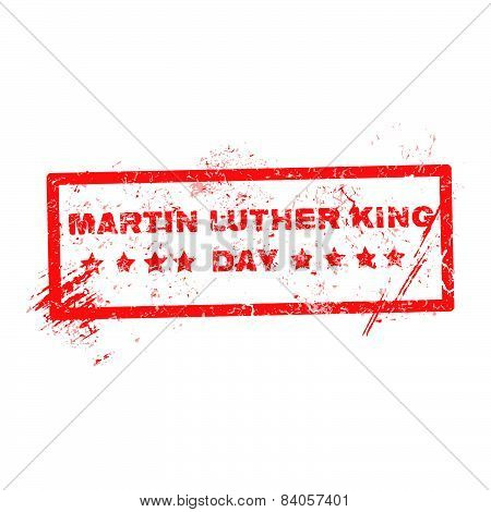 Martin Luther King Day Grunge Rubber Stamp On White, Vector Illustration