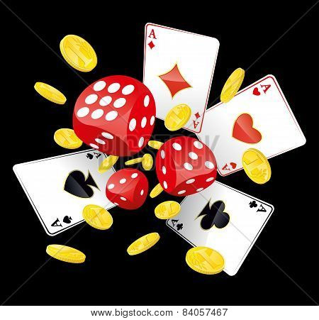 Dices, Aces And Coins