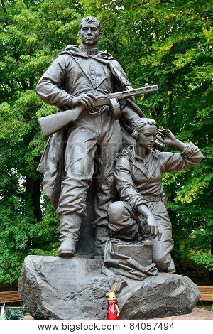 Memorial To Warrior - Scout. Kaliningrad, Russia
