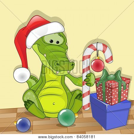 Santa Crocodile