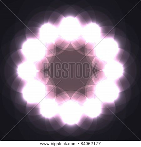 Abstract mosaic background with light spots