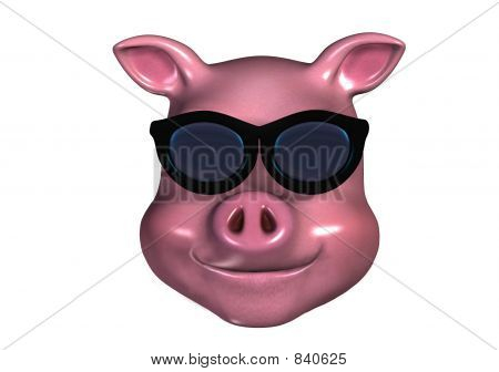 Piggy Emoticon cool
