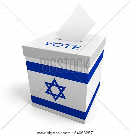 Israel election ballot box for collecting votes