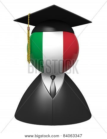 Italy college graduate concept for schools and academic education