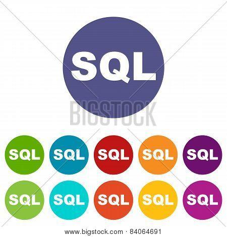SQL flat icon