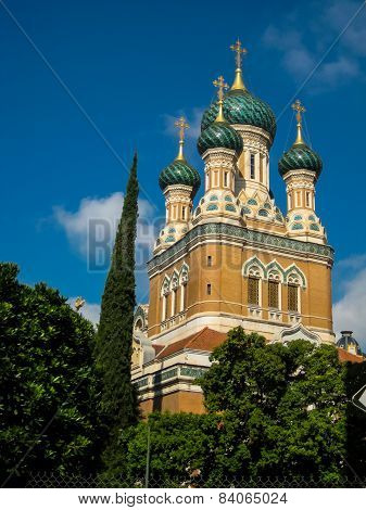 St Nicholas Russian Orthodox Cathedral In Nice, France